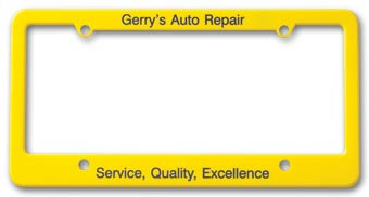 License Plate Frame - Straight Bottom
