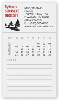BIC Magnetic Rectangle Calendar with Notepad
