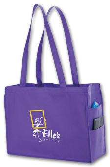 Non-woven side Pocket Tote - small