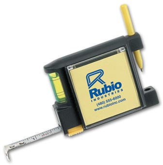 Tape Measure With Note Pad, Pen And Leveler