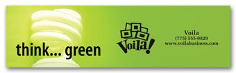 Green Bumper Sticker