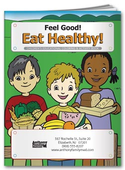Feel Good! Eat Healthy Coloring Book