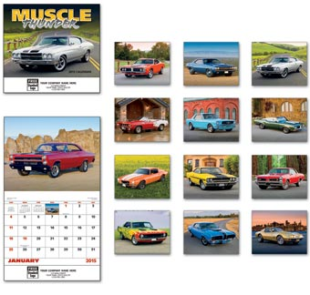 Muscle Thunder Wall Calendar