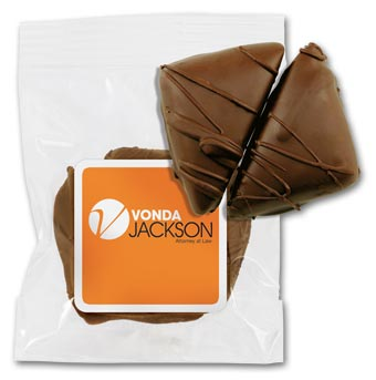 2 pc Chocolate Caramels Bag