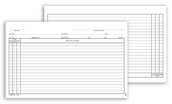 General Patient Exam Records, Card Style w/o Account Record