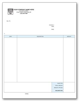 Laser Professional Invoice 2-part