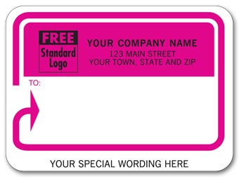 Mailing Labels, Padded, White w/ Pink Return Address