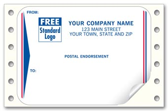 Postal Endorsement Mailing Labels, Continuous, White