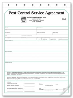 Pest Control Contract -  Service Agreements 2-part