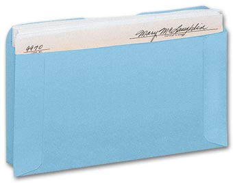 Expansion Card File Pocket, Blue