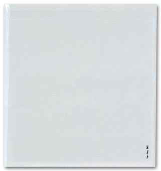 Adhesive Transparent Plastic File Pockets, 9 1/2  x 8 1/4