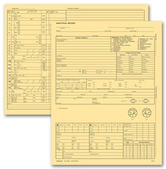 Optometry Exam Record Form, Letter Style, Buff