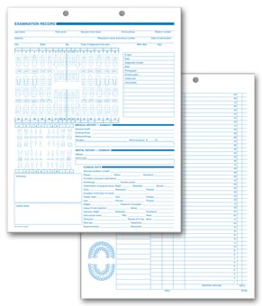 Dental Exam Records, Anatomic Diagram, Primary - Permanent