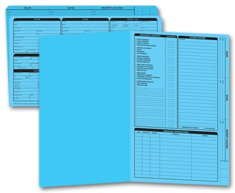 Real Estate Folder, Right Panel List, Legal Size, Blue