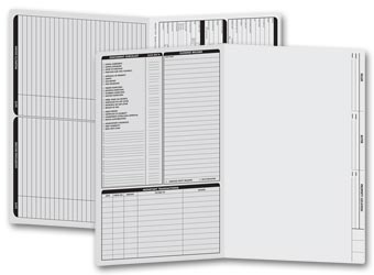 Real Estate Folder, Left Panel List, Legal Size, Gray