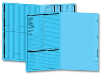 Real Estate Folder, Left Panel List, Legal Size, Blue