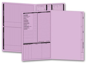 Real Estate Folder, Left Panel List, Legal Size, Lavender
