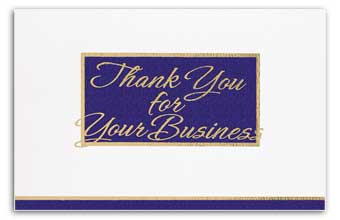 Navy/White Executive Thank You For Your Business Card
