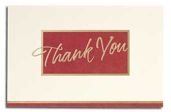 Burgundy/Cream Executive Thank You Card