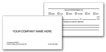 Two-Sided Appointment Business Cards, Imprinted