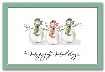 Lighthearted Christmas Postcard