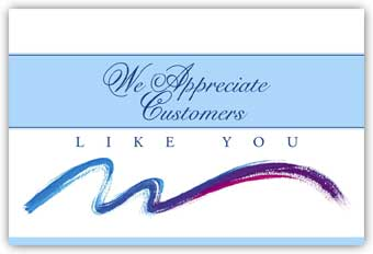 Postcard,  We Appreciate Customers Like You