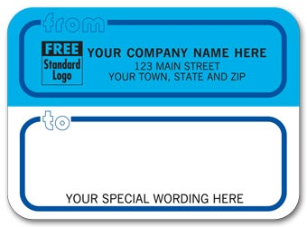 Mailing Labels, Padded, White & Blue
