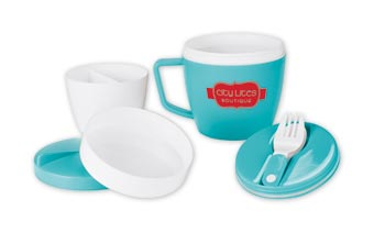 Thermal Mug with Spoon & Fork - 14oz.