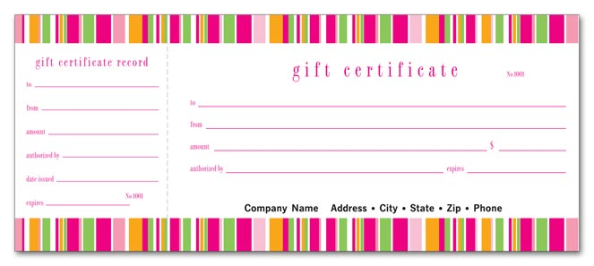 Lilly Stripe Gift Certificate