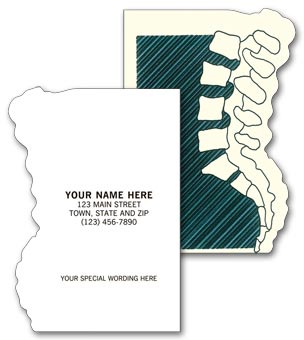 Chiropractic Appointment or Business Cards, DieCut, Backbone