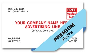 Premier Business Cards, 1 or 2 inks colors
