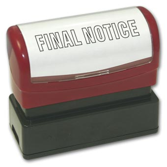 Final Notice Stamp - Pre-Inked