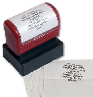 Endorsement Stamp - Pre-Inked,  Popular Layout