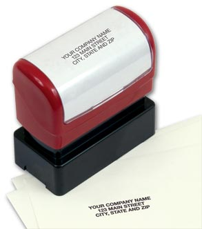 Compact Name and Address Stamp - Pre-Inked
