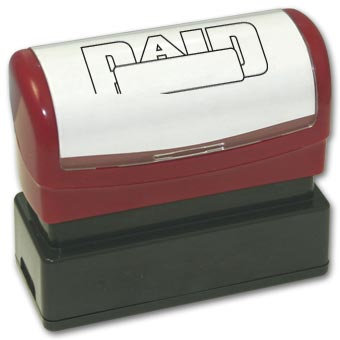 Paid within box outline Stamp - Pre-Inked
