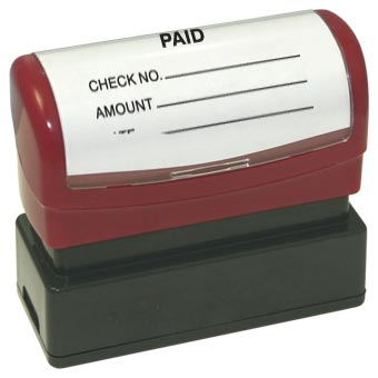 Paid with check amount Stamp - Pre-Inked