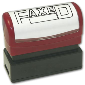 Faxed with open box Stamp - Pre-Inked