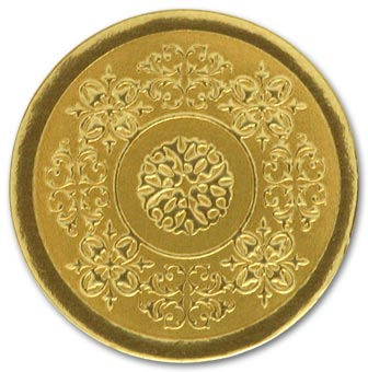 Round Gold Medallion Envelope Seal