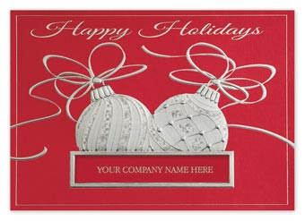 Ornaments of Silver Holiday Cards