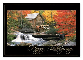 Mill Stream Thanksgiving Cards