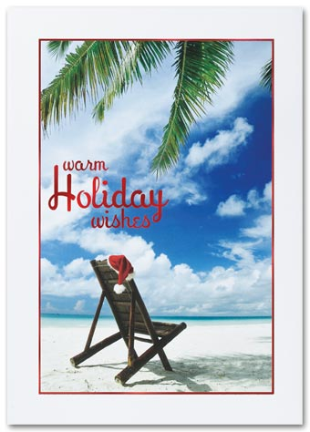 White Sandy Christmas Holiday Card
