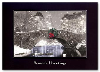 Cityscape Holiday Card