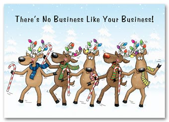 Entertaining Holiday Card