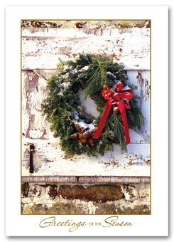 Rustic Wreath Holiday Cards