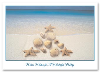 Festive Shoreline Holiday Cards