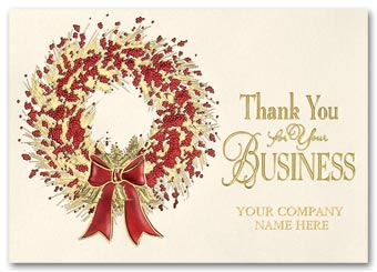 Grateful Sentiment Business Holiday Card