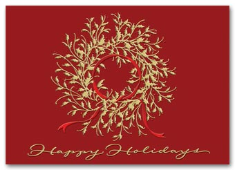 Delicate Decoration Business Holiday Card