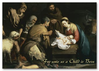 Nativity Night Holiday Card