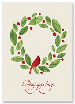 Peaceful Cardinal Recycled Paper Holiday Cards
