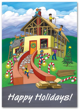 Building Holiday Joy Contractor & Builder Holiday Cards